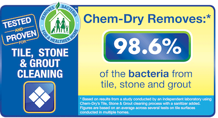 Chem-Dry of Stockton removes 98% of bacteria from stone, tile, and grout
