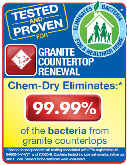 Chem-Dry of Stockton removes 98% of allergens from granite countertops